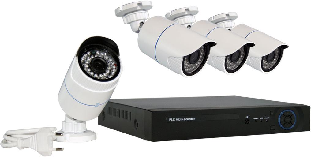 kit videosorveglianza senza fili onde convogliate
