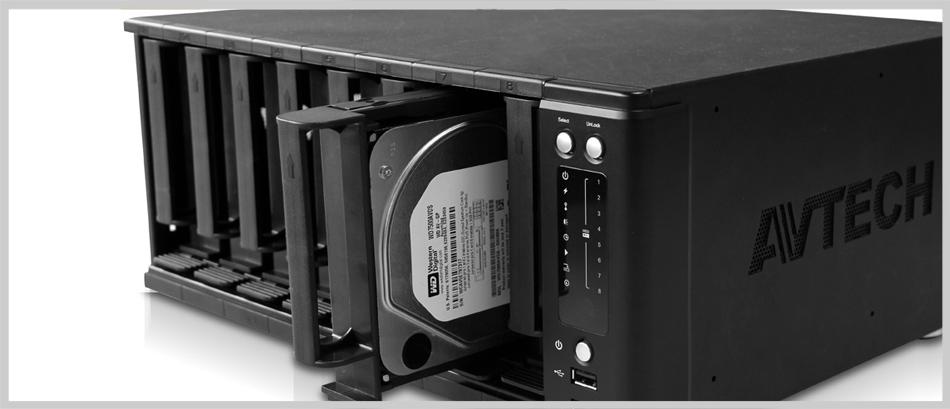 nvr h265 con 8 hard disk raid