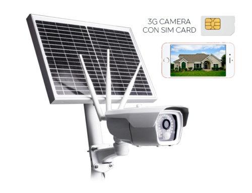 Telecamera 4G con pannello solare