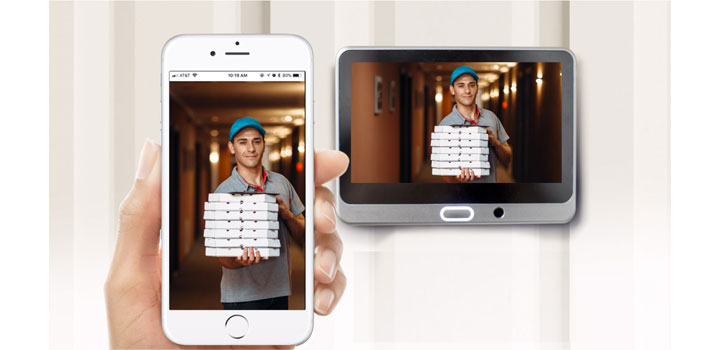 Spioncino digitale WIFI con sensore di movimento per Porta Blindata
